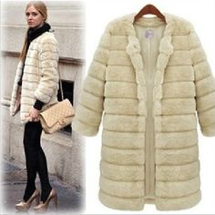 8f25adf1851 Aliexpress.com   Buy 2016 fashion Lady black Faux fur coat winter jacket  women overcoat thick warm fur outerwear rabbit fur coat jackets plus size  from ...