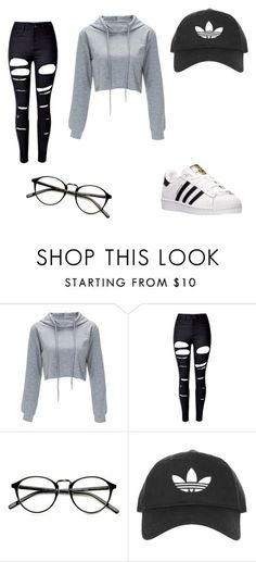 """""""Untitled #119"""" by nasteexomohamud on Polyvore featuring WithChic, Topshop and adidas"""