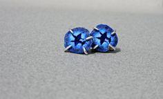 Blue Druzy Azurite Crystal Geode Stud Earrings in by getawaygirl, $164.00. Be your own superhero in these stunning earrings!