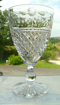 Stuart Crystal - Beaconsfield 4 5 Wine Glass - Signed