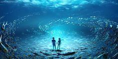 Seninle atmosfer deniz, saçlarında okyanus dalgaları, yüzünde gün batımı yaşıyorum; sensiz ruhum sütliman, gözlerimde huzursuz dalgalar, sadece gelgitle duygularımı aşındırıyorum. Engin bu sensizlik denilen, geçmişe ne zaman yelken açsam, kayboluyorum. - Meo