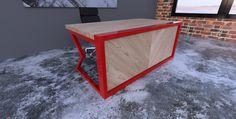Modern Herringbone Desk