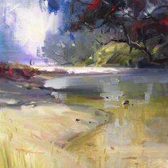 """Waipu Cove"" Oil on Canvas by Richard Robinson - Click to see the Demo Video"