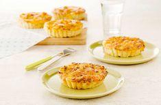 Recept voor Hartige taartjes met kip en pittige kaas