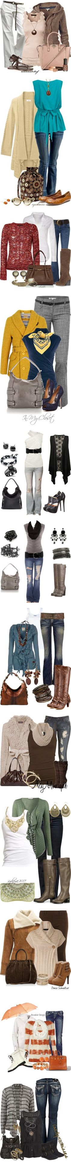"""Outfits I love"" by addisonhouston ❤ liked on Polyvore. I LOVE them all too!!"