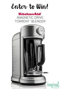 KitchenAid Magnetic Drive Torrent Blender Giveaway with @inspiredbycharm