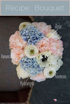 DIY your very own silk flower bouquet in lovely spring tones!