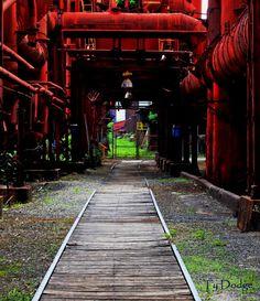 Wooden plank railroad, Sloss Furnace, Birmingham