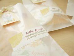 glassine envelopes.