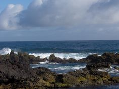 The ocean as seen from some swimming holes in Biscoitos (BISHKOYTS), Terceira, Azores, Portugal