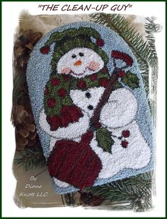 The+Clean-Up+Guy+Snowman+Punch+Needle+Pattern+by+DianeKnottLLC