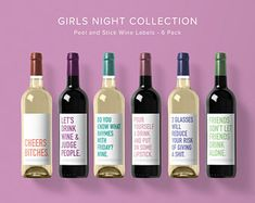 Wine Labels Funny Stick on Labels for your next Girls Night In – The Suburban Edit Funny Wine Labels, Wine Bottle Labels, Wine Bottles, Bottle Bottle, Beer Labels, Wine Decanter, Wine Lipstick, 30th Birthday Ideas For Women, Wine Making Kits