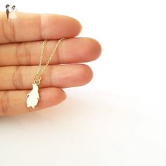 Dainty Gold Vermeil Penguin Necklace - Wedding nacklaces (*Amazon Partner-Link)