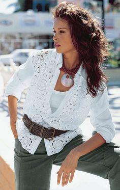 Белая рубашка+крючок