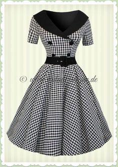 Hell Bunny Jahre Rockabilly Gingham Kleid - Bridget - Schwarz Weiß - Source by Kleider weiss Vintage 1950s Dresses, Vintage Inspired Dresses, Retro Dress, Vintage Outfits, Pretty Outfits, Pretty Dresses, Beautiful Dresses, Cute Outfits, African Fashion Dresses