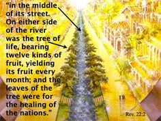 bible verse, revelation fruit, healing of the nations - Google Search
