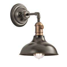 Light up your home with the retro industrial 1 light convertible mini pendant / wall sconce in Olde Bronze from the Cobson Collection. Featuring a timeless wide bell form and fully functional paddle switch it will take you back in time while giving your home a sleek new touch.  Weight: 3 lbs Light Source: Incandescent Finish:Old Bronze  **Able to be converted to pendant**