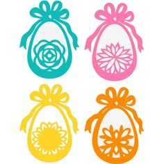 Silhouette Design Store - View Design #26491: easter egg ribbons