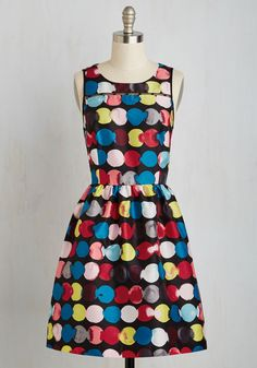 Practitioner Makes Perfect Dress. Every dress youve previously donned was simply a rehearsal for the debut of this colorful A-line! #multi #modcloth