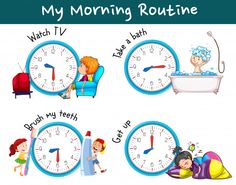Daily routine + time