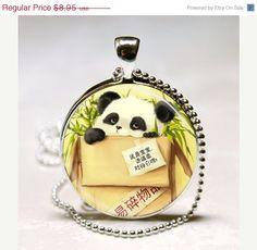 Baby Panda Necklace Panda Bear Animal by MissingPiecesStudio, $7.61