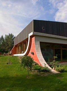 "Sporty house in Vilnius Lithuania. this is a cool concept but make the ramps a skate park feel for all around the house. wall rides, ramps, etc. Project - Single family house ""Sporty"" - Architizer"