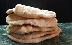 DOMA navařeno: Špaldový PITA chleba No Bake Cake, Scones, Hummus, Biscuits, Sweets, Baking, Bagels, Breads, Fitness