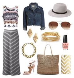 """Pink tribal patter with gold"" by genevamq on Polyvore"
