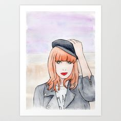 Miss P. Art Print by Minky Gigi - $17.00 / FREE Shipping thru Sunday, worldwide!
