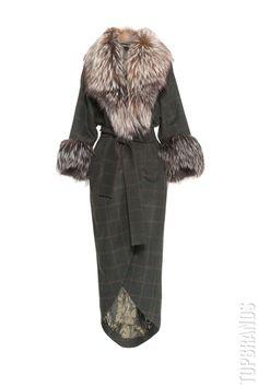 Пальто с меховой отделкой и поясом Charisma 425282/27/8д за 156500 руб. Интернет магазин брендовой одежды премиум-класса онлайн бутик - Topbrands.ru