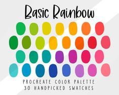 Sunset Color Palette, Rainbow Palette, Rainbow Colors, Ipad App, Color Schemes Colour Palettes, Colour Combinations, Watercolor Kit, Complimentary Colors, Color Swatches