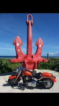 My bike.(Aruba)  Harley Davidson Fatboy Custom 2012.