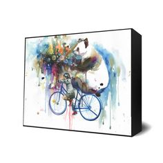 'Creator of the Universe' print by Lora Zombie - Mini Art Blocks are perfect for small spaces and easy on the budget! http://www.eyesonwalls.com/products/creatoroftheuniverse-ax?utm_source=pinterest&utm_medium=ads&utm_term=nursery%20kid&utm_content=creator%20mini%20ab&utm_campaign=Test