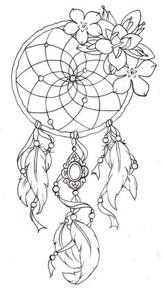 Dream catcher sketch
