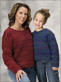 Cuddly & Classy Mom & Daughter Sweaters free crochet pattern