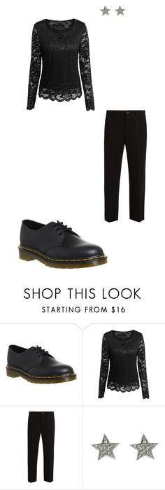 """""""Back in Black #10"""" by femalewarrior205 ❤ liked on Polyvore featuring Dr. Martens and Miu Miu"""