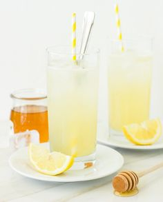 Honey-Lemon Gin Rickey   14 New Year's Eve Cocktails That Actually Aren't That Bad For You