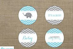 Chevron Elephant Baby Shower Cupcake Toppers - Elephant Printable - Gray Elephant printable - Baby Shower Printable - Boy Baby - Girl Baby - http://babyshower-cupcake.com/chevron-elephant-baby-shower-cupcake-toppers-elephant-printable-gray-elephant-printable-baby-shower-printable-boy-baby-girl-baby/