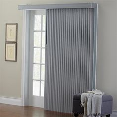 Brylanehome Embossed Vertical Blinds (Grey,104W 84 L)