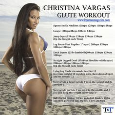 Get fit with this booty workout from IFBB Bikini Pro, Christina Vargas via Ironman Magazine!