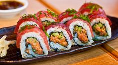 Homemade Sushi Rolls Simple Spicy Tuna Roll. Add thinly sliced raw tuna and green onions on top and instantly have restaurant quality sushi! Also recipes for dynamite sauce, unagi sauce,baked volcano roll, caterpillar roll and more!