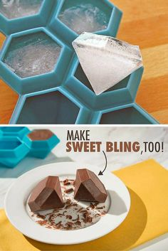 Silicone diamond ice cube tray. Great for making chocolate, jello molds and more!