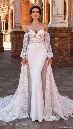 Rose Moda Rose Gold Crystal Beaded Mermaid Wedding Dress With Short Cape Boho Wedding Dresses 2019 Pleasant To The Palate Weddings & Events