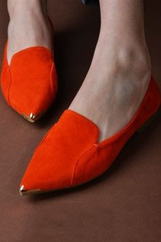 pointed metal toe slipper shoes