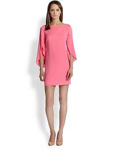 MILLY - Butterfly Sleeve Silk Dress - Saks.com