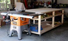 DIY Workbench Woodworking Jigsaw, Cool Woodworking Projects, Woodworking Workshop, Woodworking Furniture, Woodworking Plans, Woodworking Techniques, Woodworking Magazine, Woodworking Courses, Woodworking Equipment