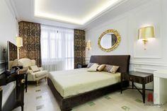 Фото интерьера спальни квартиры в стиле неоклассика