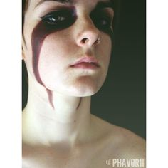 Skyrim Warpaint by Phavorii ❤ liked on Polyvore featuring facepaint