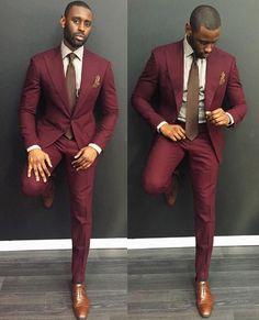 Davidson Frere maroon suit