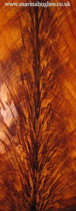 Faux Effects I Woodgraining Sample of painted flame mahogany